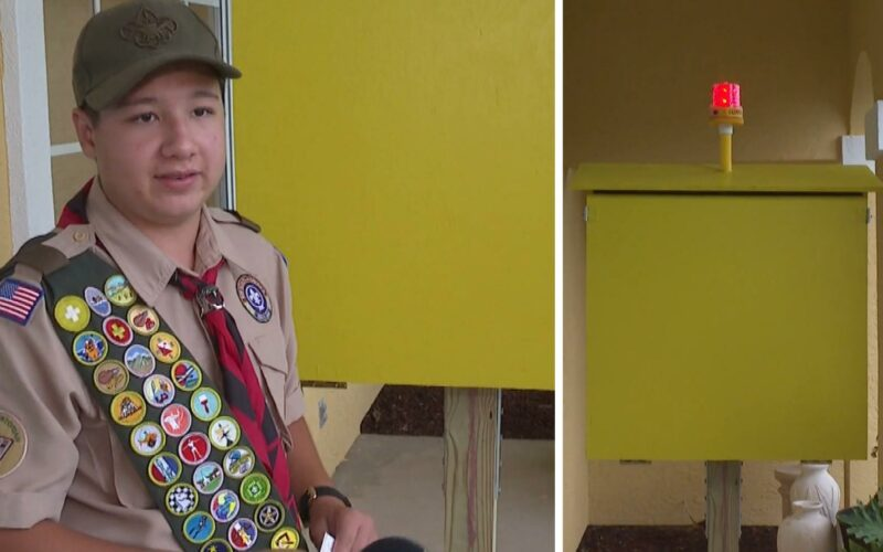 13-year-old boy scout