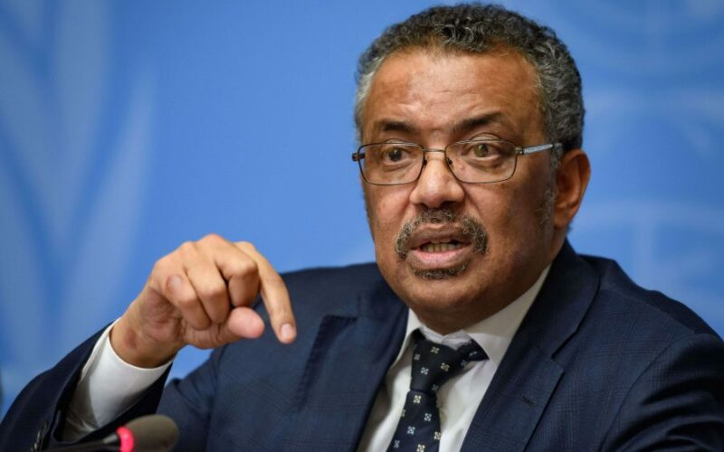 WHO head, Dr. Tedros