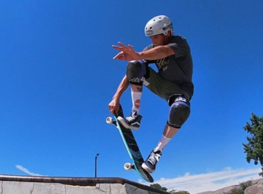 Chris Weddle skateboarding trick