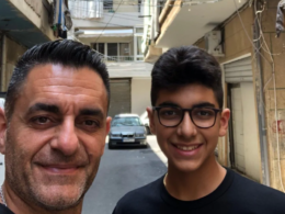 Lawen and his father in Beirut