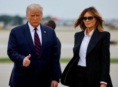 President Trump and wife