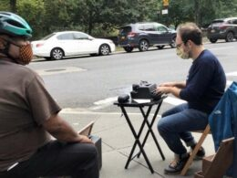 Man Sits on NYC Sidewalk with Typewriter to Help Strangers Send Letters