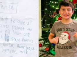 Nine-year-Old Boy Wants Santa to present his Hoverboard to a Child needing the same gift