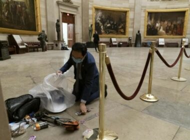 NJ Representative Andy Kim Feels Honored Cleaning Up Litter Inside the Capitol At Night