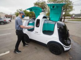 Pizza delivery robot car